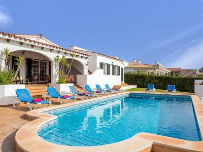 Photo for 4 bedroom Villa, sleeps 8 in Binibèquer Vell with Pool, Air Con and WiFi