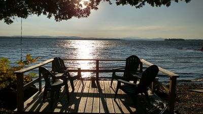 Photo for 3 Bedroom/2 Bath Pet Friendly Right On Lake Champlain