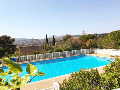 Photo for spacious villa with pool and shared tennis