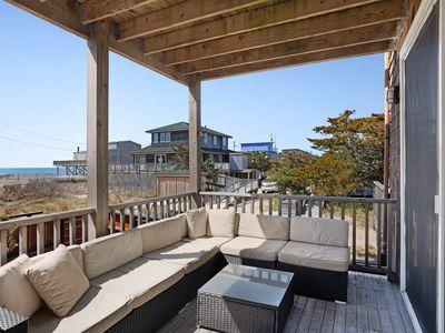 Photo for Bright duplex w/ great location steps from the beach, views, room for everyone!