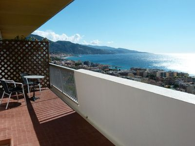 Photo for Panoramic sea view & large terrace / Swimming Pool