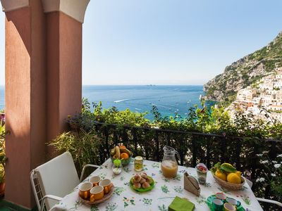 Photo for House with terrace an sea view within walking distance to Positano downtown
