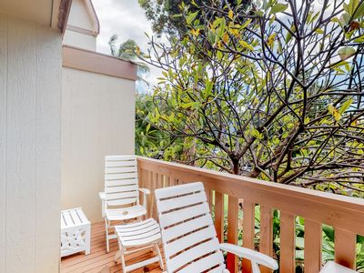 Photo for Quiet & comfortable condo w/ furnished balcony & shared pool - near beach & golf
