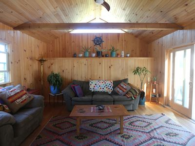 Photo for Charming beach bungalow five mins walk from beach and town