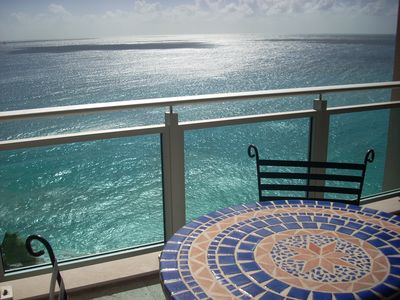 View of Caribbean Sea from Main Balcony