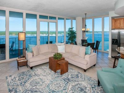 Photo for Panoramic Lagoon Views | Deeded Beach Access, Out/Indoor pools, Hot tub, Fitness, Pier, Boat dock