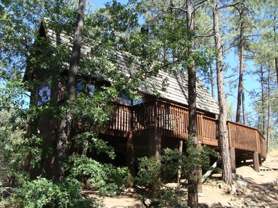 Photo for Private Cabin Hideaway On 1 Acre; 5 Minutes From Downtown Prescott