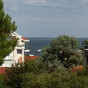 Photo for T2 very beautiful, large terrace, view Arcachon Bay, at the foot Marina