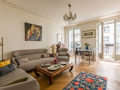 Photo for Elegant 2 BR in one of Paris safest locations. Close to Arc de Triomphe (Veeve)