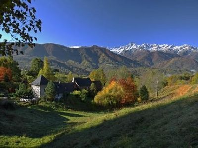 Photo for cottage in the mountains, large flower garden, panoramic view, calm ensures