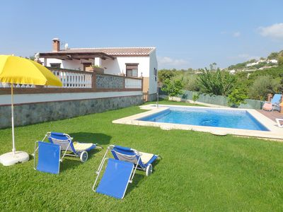 Photo for This 3-bedroom villa for up to 5 guests is located in Nerja and has a private swimming pool, air-con