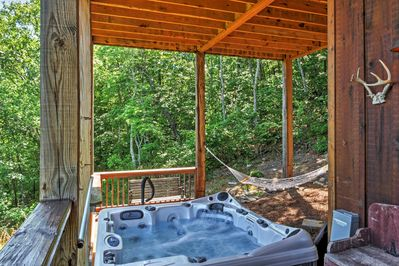 You'll love unwinding in your private hot tub while gazing out over the stunning views.