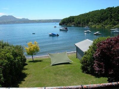 Photo for Unique Waterfront Bach. 913 Acacia Bay Road. Taupo