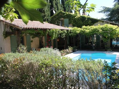 Photo for Holiday house with private pool, large garden between Aix-en-Provence and the sea.