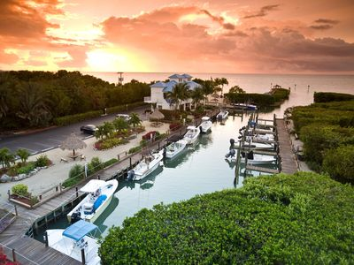 Sunset at the Key Largo Suites.