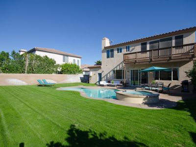 Photo for NEW LISTING! Sunny home w/private pool, spa & patio - near golf courses!