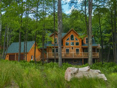 Photo for Big Log Lodge: Stunning Home Near 2 Golf Courses