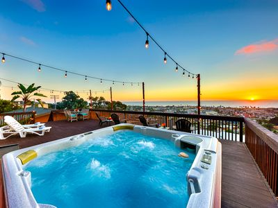 Photo for 20% OFF APR+MAY - Ocean Views, Private Deck & Hot Tub, Walk to Village