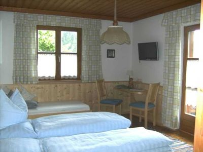 Photo for Double room with shower / WC and balcony and TV in the room - child-friendly holiday farm Windbachgut