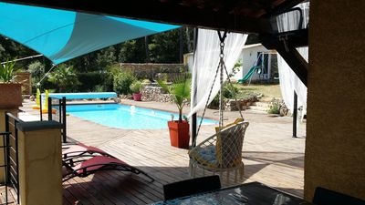 Photo for Between mediterranean and verdon 08/12 people heated pool jacuzzi