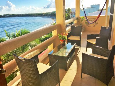 Photo for Bright and airy penthouse condo with pool and onsite gourmet restaurant.