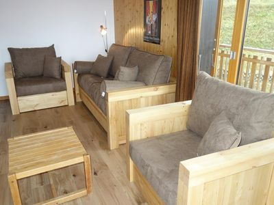 Photo for 2*  1-bedroom apartment for 4-6 people located below the swimming pool at about 700m from the ski li