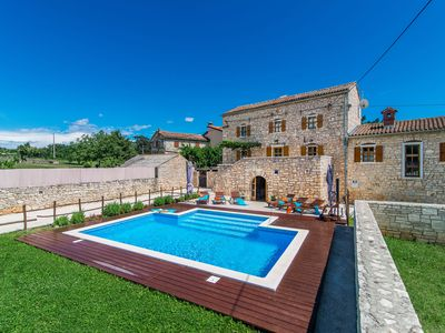 Photo for Beautiful villa consisting of two houses with private pool in the heart of Istria