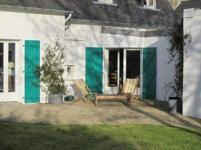 Photo for 2 steps from the beach, comfortable house, garden, 8 people