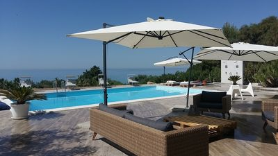 Photo for VILLA MALOUGA WITH SWIMMING POOL 100M FROM THE BEACH