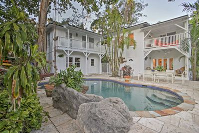 Spend those endless summer days diving into the shared backyard pool!