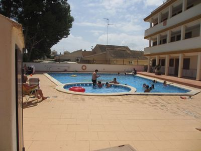 Photo for 6 bed apartment 600 m from Roda Golf course with a roof terrace and Pool