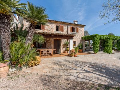 Photo for Authentic Mallorcan villa with private pool in the countryside. 10 minutes drive to the beach.