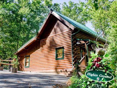 Photo for Lovely cabin w/hot tub, fireplace, wrap-around porch, & free passes to local attractions.