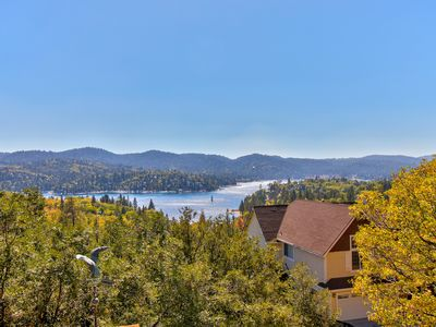 Photo for NEW LISTING! Lake view home with free WiFi, fireplace, grill, and full kitchen!