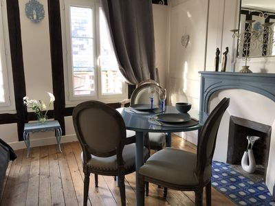 Photo for CHARMING STUDIO TOWN CENTER HONFLEUR HOUSEHOLD AND BED LINEN INCLUDED