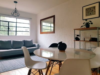 Photo for Unwind on an Urban Sleek Apt in lively Roma Norte