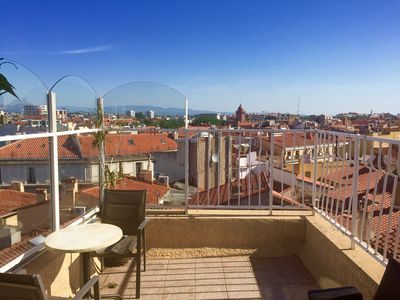 Photo for APT T2 WITH TERRACE! FULL CENTER! EXCEPTIONAL VIEW! 3 Faces! HEART OF CITY
