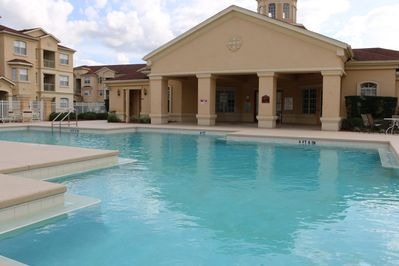 Beautiful Heated Pool & Hot Tub area, Club House & Games Room.