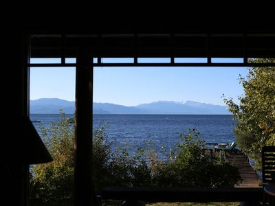 Photo for Classic Old Tahoe Lakefront Home With Pier And Buoy. Lake Views From All Rooms!