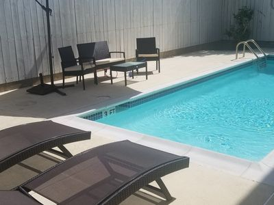 Photo for alk to Beach 2 bedroom / 3 bath condo with pool Unit #A