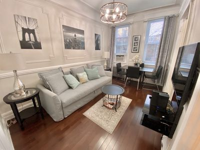 Photo for Beautiful 3 bedroom apartment with yard in Astoria, NY; 10 mins. from Manhattan.
