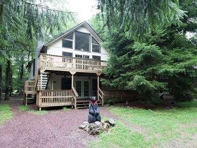 "Photo for ""Sleeping Bear Chalet"" - 2 Decks, Hot Tub, Game Rm, Stereo, Electric Car Plug"