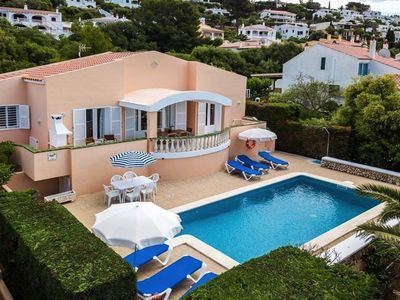 Photo for *** Son Bou Villa *** 4 Bedrooms, 3 Bathrooms, Air Con, Private Pool, WiFi, BBQ