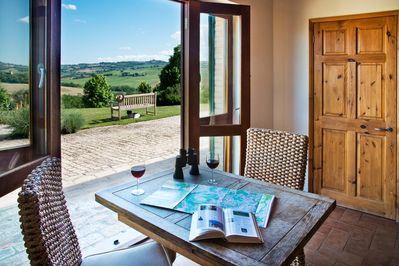 Enjoy the beautiful countryside from your apartment.
