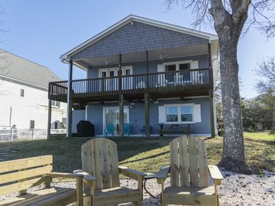 Photo for Blue Fish Shack: 4 Bed/3 Bath Waterway Home with Private Boat Dock