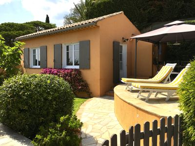 Photo for Individual house. Exceptional sea view, heated pool, 400 m.