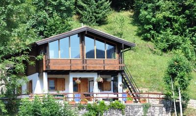 Photo for Enchanting and Romantic Chalet with 1500sqm garden surrounded by nature
