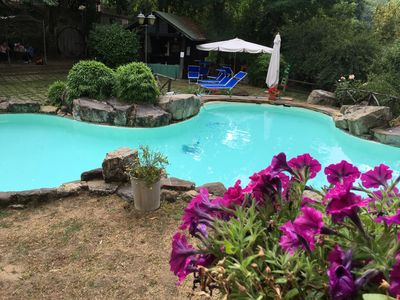 The pool at Agriturismo La Fenice, a short drive, is reserved to our guests only