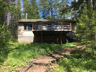 Photo for Rustic Lakeside Cabin- 3 miles from Glacier Park- get own beach & dock!
