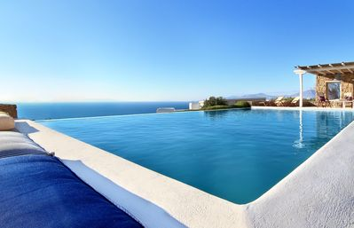 Photo for VILLA AMARETA HOULAKIA Mykonos, 3 BR 3 BATHR up to 6 Guests, Private Pool, offers everything you will need !
